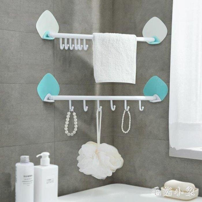 墻壁掛鉤免打孔粘膠掛鉤廚房壁掛6連鉤浴室墻壁門后創意粘鉤 ys3782
