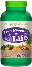【活力小站】Piping Rock 綜合 34種 蔬果精華 蔬菜 大豆 花椰菜 草莓 木瓜 葡萄籽 水果 250顆