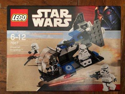 全新未開盒 Lego 7667 Imperial Dropship  Star Wars  星戰系列