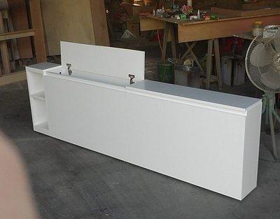 家具訂做 白色木心板上掀床頭箱.可訂做.可改色