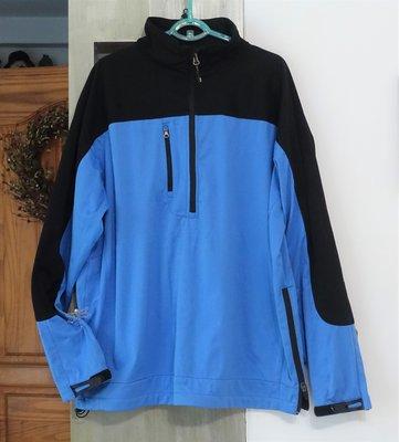 [C.M.平價精品館]男仕服飾/PORT AUTHORITY男仕品牌防曬透氣好看藍黑色拉鏈外套M碼現貨