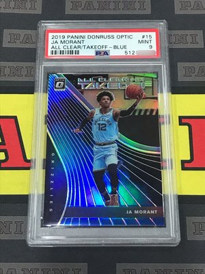 Morant 藍亮新人卡 2019-20 JA MORANT Optic ALL CLEAR FOR TAKE OFF 灰熊少主 藍亮 限量49張PSA 9