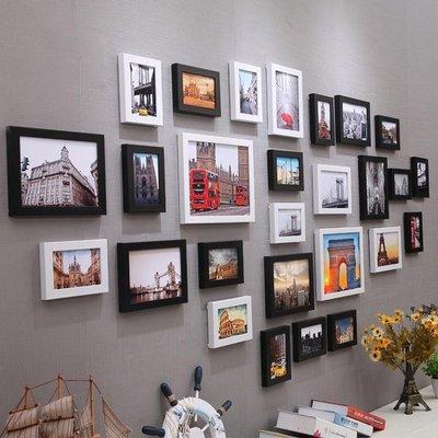 簡約現代照片牆裝飾品餐廳臥室牆面創意相框牆掛牆組合北歐相片牆
