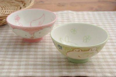 艾苗小屋-日本製日式餐具兒童陶器碗 (青蛙)