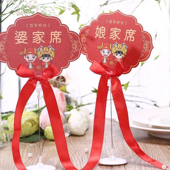 奇奇店-熱賣款 創意結婚婚禮用品婚慶桌卡角色席位卡簽到臺婆家席娘家席(量大諮詢客服優惠喔)