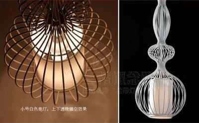 husband 鐵藝造型曲線吊燈 現代簡約 田園餐廳吧台燈 書房燈 110-220V