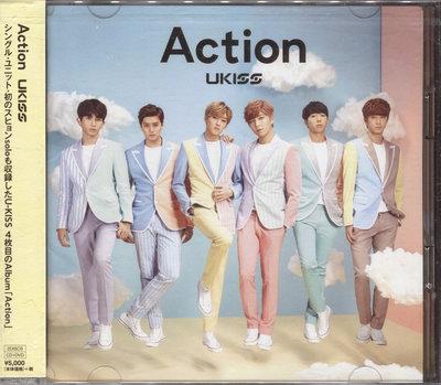 【嘟嘟音樂坊】U-KISS - 4th Album Action  CD+DVD  日本版  (全新未拆封)