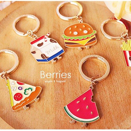 鑰匙圈 卡通吊飾 U-PICK原品生活 漢堡薯條美味食物掛飾 Berries【UP011】