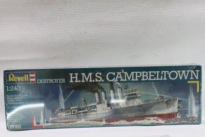 【統一模型玩具店】REVELL威望《美國海軍驅逐艦 H.M.S CAMPBELTOWN》1:240 # 05082