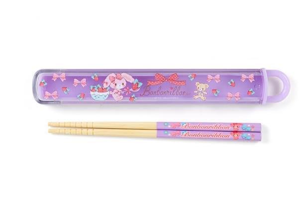 【莓莓小舖】正版 ♥ Sanrio 三麗鷗 蹦蹦兔 兒童筷子組 兒童筷子附盒
