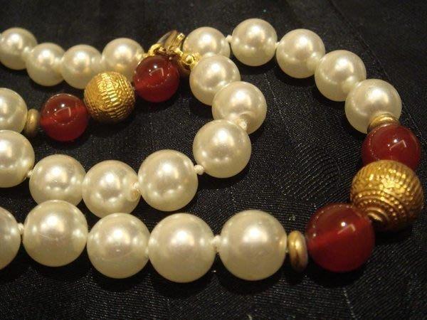 賣家珍藏,全新超有質感的人造珠項鍊!賣場另有同款手環,無底價!免運費!