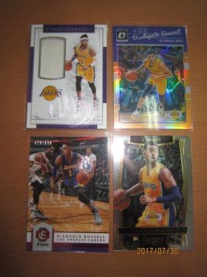 網拍讀賣~D'angelo Russell~籃網隊球星~國寶限量球衣卡/99~OPTIC限量卡/199~限量卡/149~