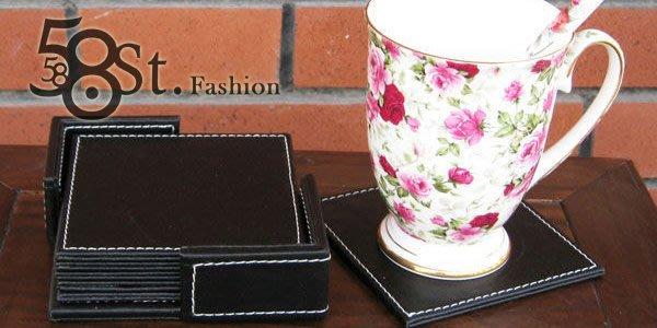 【58街】設計款式「皮革製品,方形杯墊」。AF-063