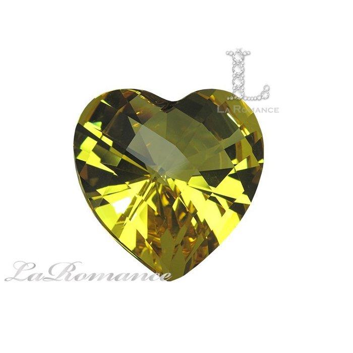 【芮洛蔓 La Romance】璀璨心型水晶鑽 – 金黃 / 招財 / 聚財 / 王者之尊 / 求婚 / 情人節