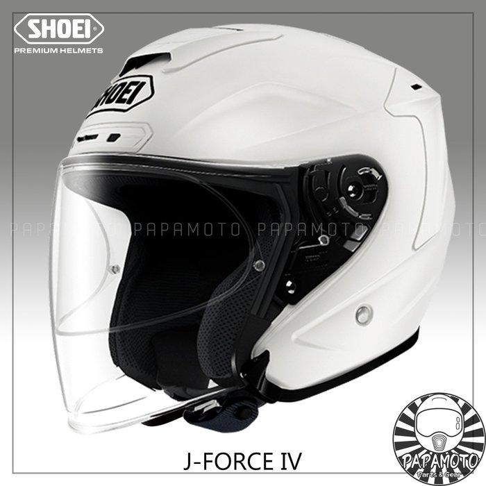 【趴趴騎士】SHOEI J-Force4 - 珍珠白 3/4 安全帽 ( 白色 JForce JF4