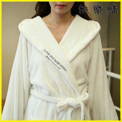 浴袍睡袍  加長款法蘭絨情侶睡袍晨袍浴衣加厚加絨