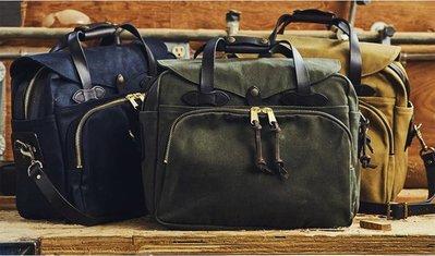 復刻 FILSON 258 Briefcase  重磅帆布公事包 側背包 商務包 橄欖綠 卡其 海軍藍