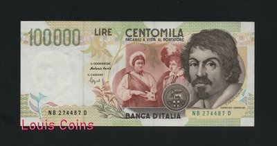 【Louis Coins】B146-ITALY-1994義大利紙幣-100.000 Lire