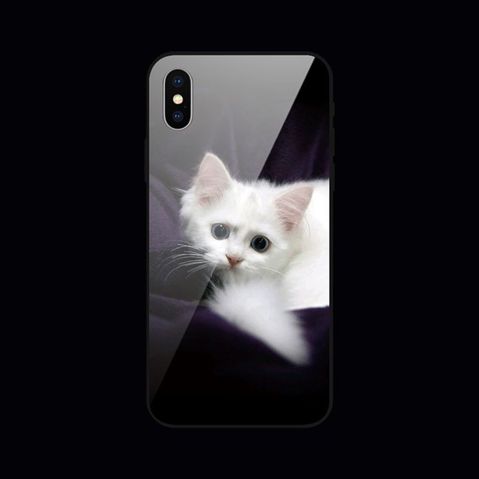 手機殼 手機配件 正品iphone7蘋果6s手機殼6plus硅膠8x創意xr潮男女款xs max貓咪玻璃殼