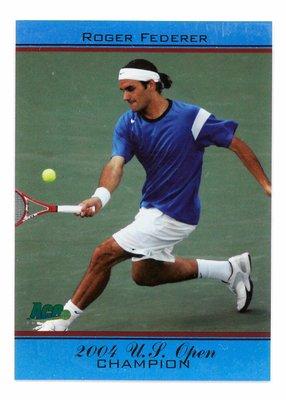 Roger Federer 費德勒 2004年美網冠軍紀念球員卡