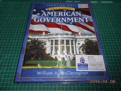 《MAGRUDER'S AMERICAN GOVERNMENT》八成新 精裝本 有水漬,外觀角微損【CS超聖文化2讚】