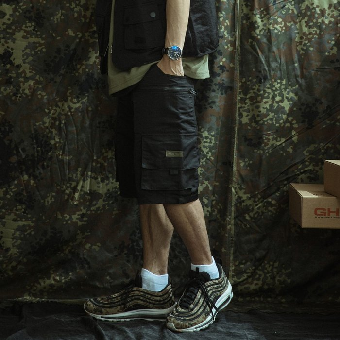 """GHK """"Abstract Collection"""" Tactical Shorts 黑色"""
