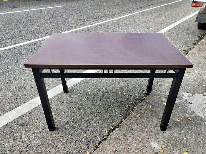 非凡二手家具 全新 鐵刀木色4尺餐桌*休閒桌*餐廳桌*咖啡桌*戶外桌*吃飯桌*方桌*火鍋桌*簡餐桌*木桌*二手餐桌