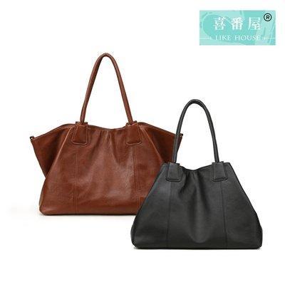 【喜番屋】真皮頭層牛皮大容量女士手提包托特包子母包手提袋女包【LB493】