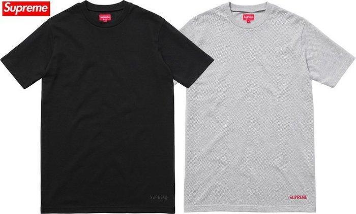 【超搶手】全新正品 2015 春夏 Supreme Mesh Logo Tee 透氣 刺繡字體 黑藍白灰 M L XL