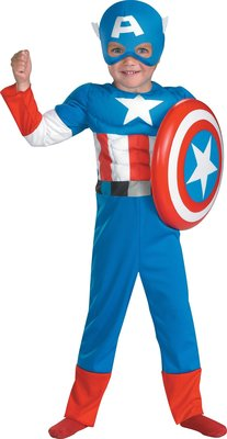 美國隊長 Captain America Muscle Toddler Costume