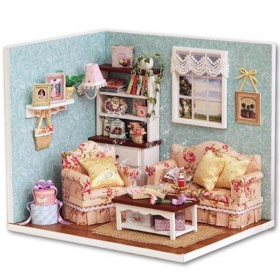 【酷正3C】DIY小屋 袖珍屋 娃娃屋 模型屋 材料包 玩具娃娃住屋 交換禮物 手工拼裝房子 幸福系列 H007幸福相聚