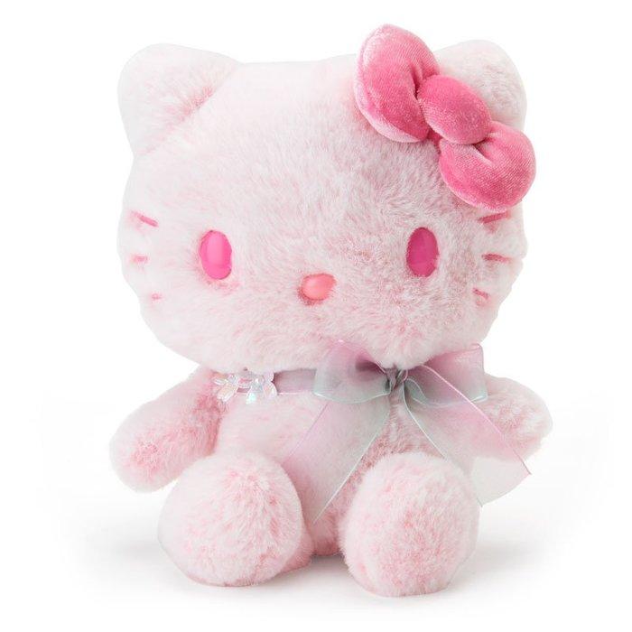 41+現貨不必等 粉彩 櫻花系列 HELLO KITTY 凱蒂貓  粉紅漸層 絨毛 公仔 娃娃 2019 小日尼三