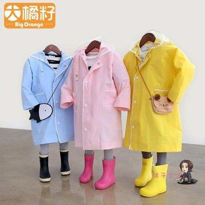 雨衣 兒童寶寶幼兒園小學生男童女童連身雨衣雨披2-3-6-12歲 3色S-XL