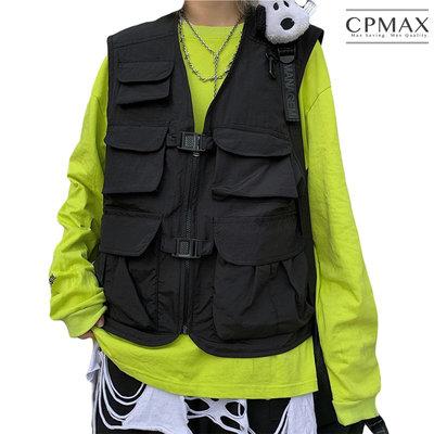 CPMAX 韓系暗黑情侶工裝背心外套 工作背心 工裝背心外套 防風背心 背心 外套 工裝 韓系背心 暗黑背心 VE16
