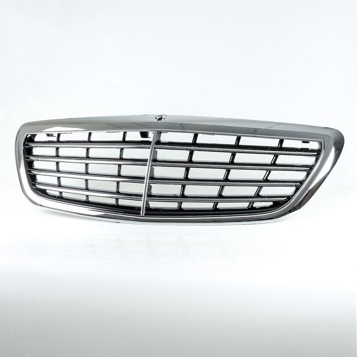 鍍鉻 OE樣式 ABS水箱罩前格柵鼻頭 Mercedes Benz S-Class W222 2014-2020年適用