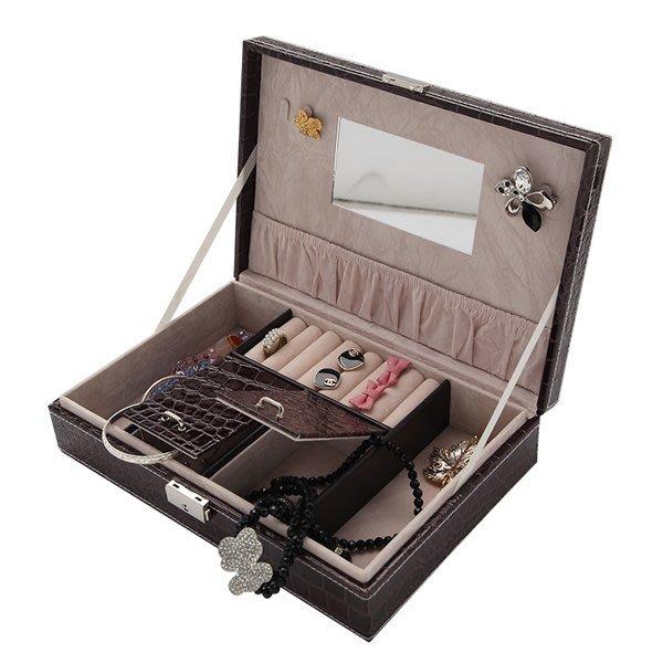 5Cgo【鴿樓】會員有優惠 19550629373 木質歐式手飾品公主化妝盒帶鎖首飾收納盒 珠寶飾品盒 首飾盒