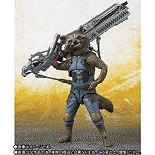 全新 日版 日魂shop 限定 Marvel 復仇者聯盟 SHF 火箭 Rocket Raccoon 浣熊