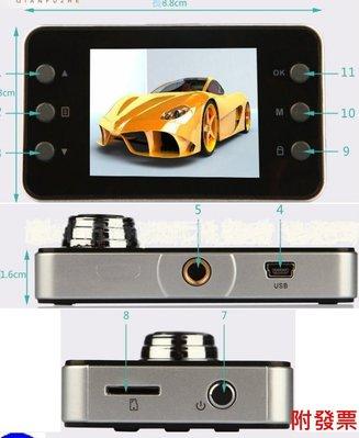 附發票 行車紀錄器 E8入門款送32G卡+2燈2.7吋蘋果機 移動偵測 行車記錄器 720P 插值1080P.699元