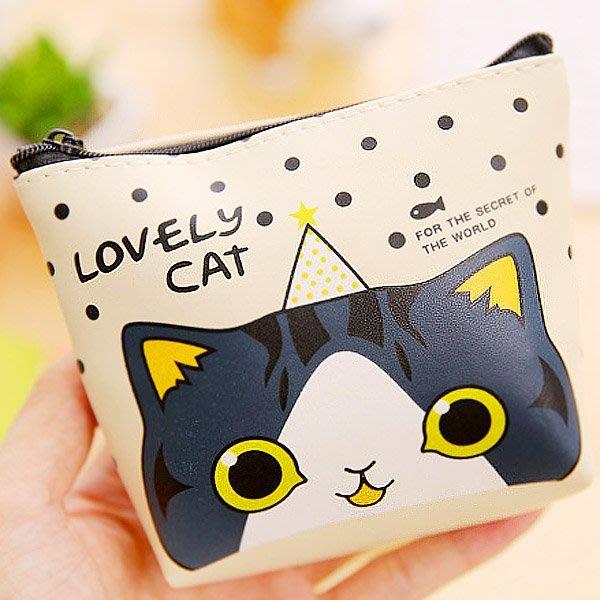 《Jami Honey》【JD1322】lovely Cat貓咪大集合皮質方形 零錢包