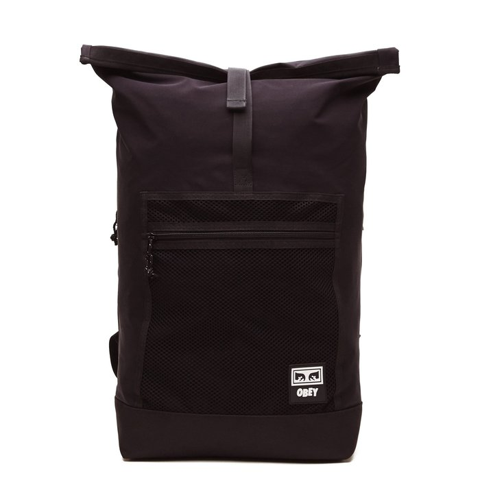 [CABAS滑板店] OBEY CONDITIONS ROLLTOP BACKPACK 黑 │後背包 滑板