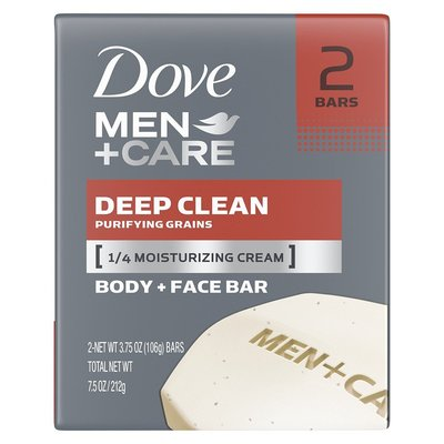 【Dove 多芬】男用洗臉沐浴香皂-深層潔淨/滋潤(3.75oz*2入/組)【5300】