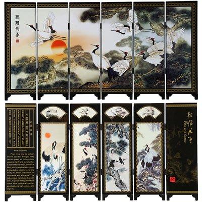 裝飾品 復古 仿古六扇中國屏風漆器小屏風裝飾擺件 預購 JYUN'S 送禮 擺飾品
