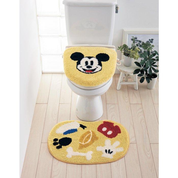 迪士尼DISNEY《預購》米奇 馬桶蓋套+地墊組~可機洗~日本正品~心心小舖