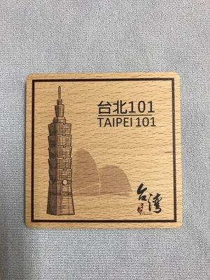[ AR 台北]實木方形杯墊磁鐵