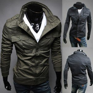 yes99buy加盟-2014秋冬男款新品外套 時尚都市雙口袋男士夾克 韓味男式純色夾克