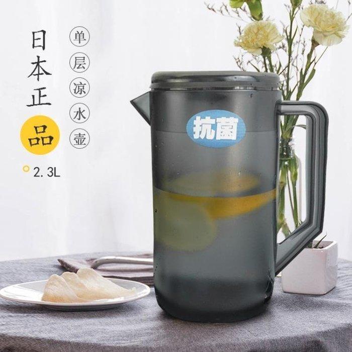 ☜男神閣☞大容量家用冷水壺塑料茶壺耐熱涼水壺防爆果汁扎壺耐高溫水杯