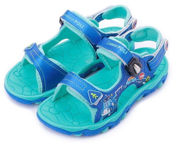 【菲瑪】POLI 磁扣涼拖兩用運動涼鞋 軟Q型 藍POKT81136
