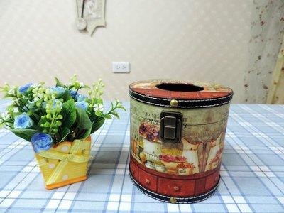 ~蘇菲亞精品傢飾~法式Zakka小面紙盒/車用垃圾桶圓形