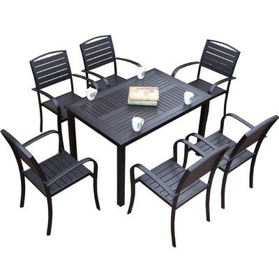 【好材質】戶外桌椅庭院簡約休閒組合套裝...