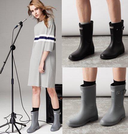 雨鞋女短筒防滑L-Rain2017正品英倫典範切爾西經典撞色膠鞋雨靴